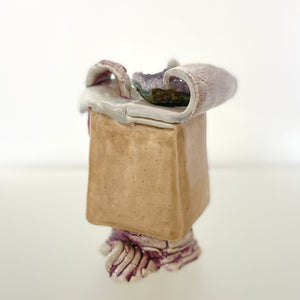 Small Purple and Beige Sculpture
