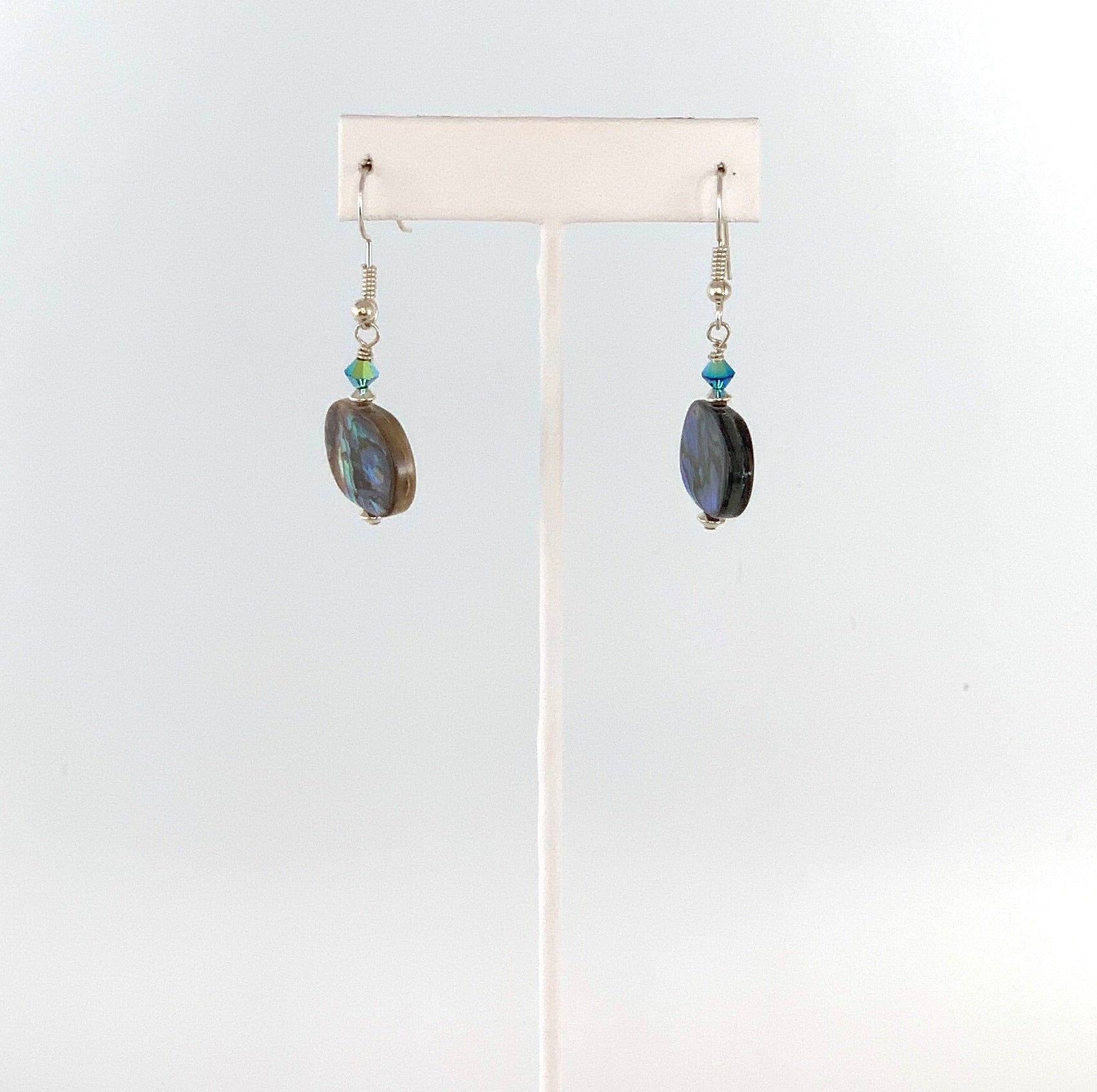 Short Oval Abalone Earrings