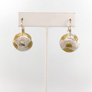 Small Fine Silver and 24K Gold Earrings