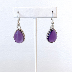 Teardrop Amethyst Earrings