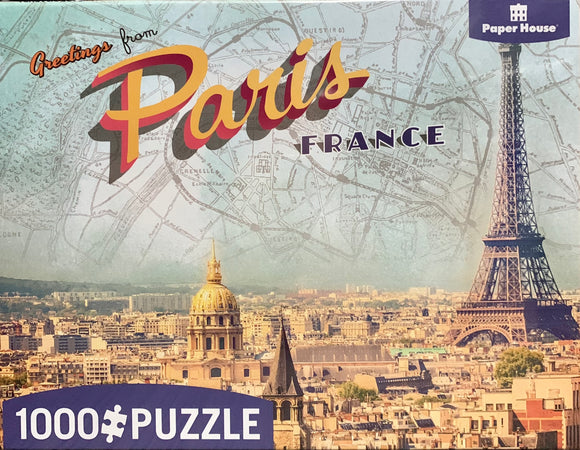 Paperhouse Puzzles - Greetings From Paris
