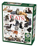 Cobble Hill Puzzle: Cat Quotes 1000 Pieces