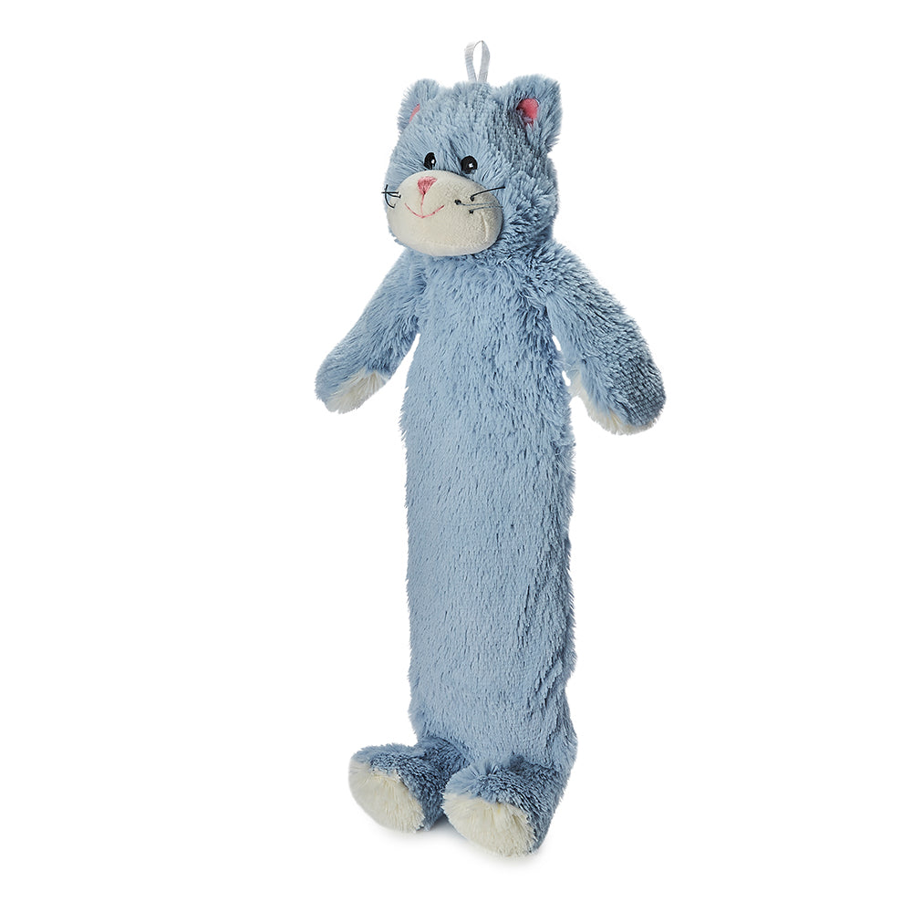 Warmies® 3D Hot Water Bottle Blue Kitten, Simply add Hot Water