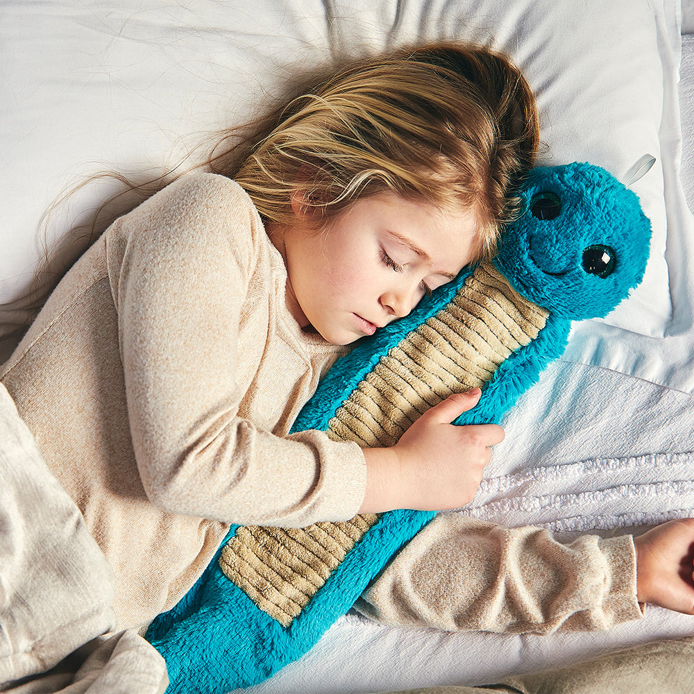 Warmies® 3D Hot Water Bottle Caterpillar, Simply add Hot Water
