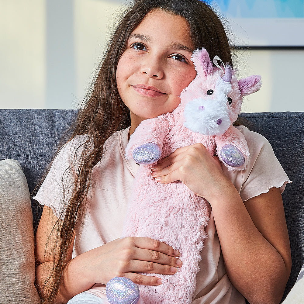 Warmies® 3D Hot Water Bottle Unicorn, Simply add Hot Water