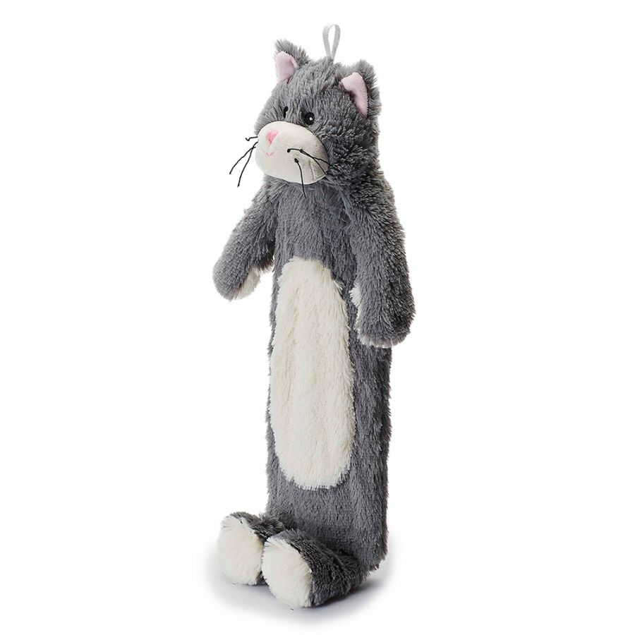 Warmies® 3D Hot Water Bottle Grey Kitten, Simply add Hot Water