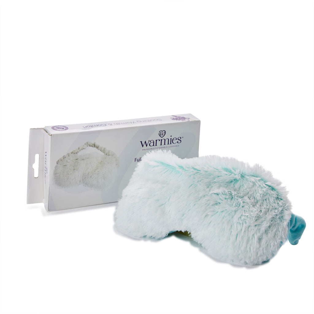 Warmies® Fully Microwaveable Plush Eye Mask Marshmallow Mint, Heatable Soft Cuddly Eye Mask With Relaxing Lavender Scent
