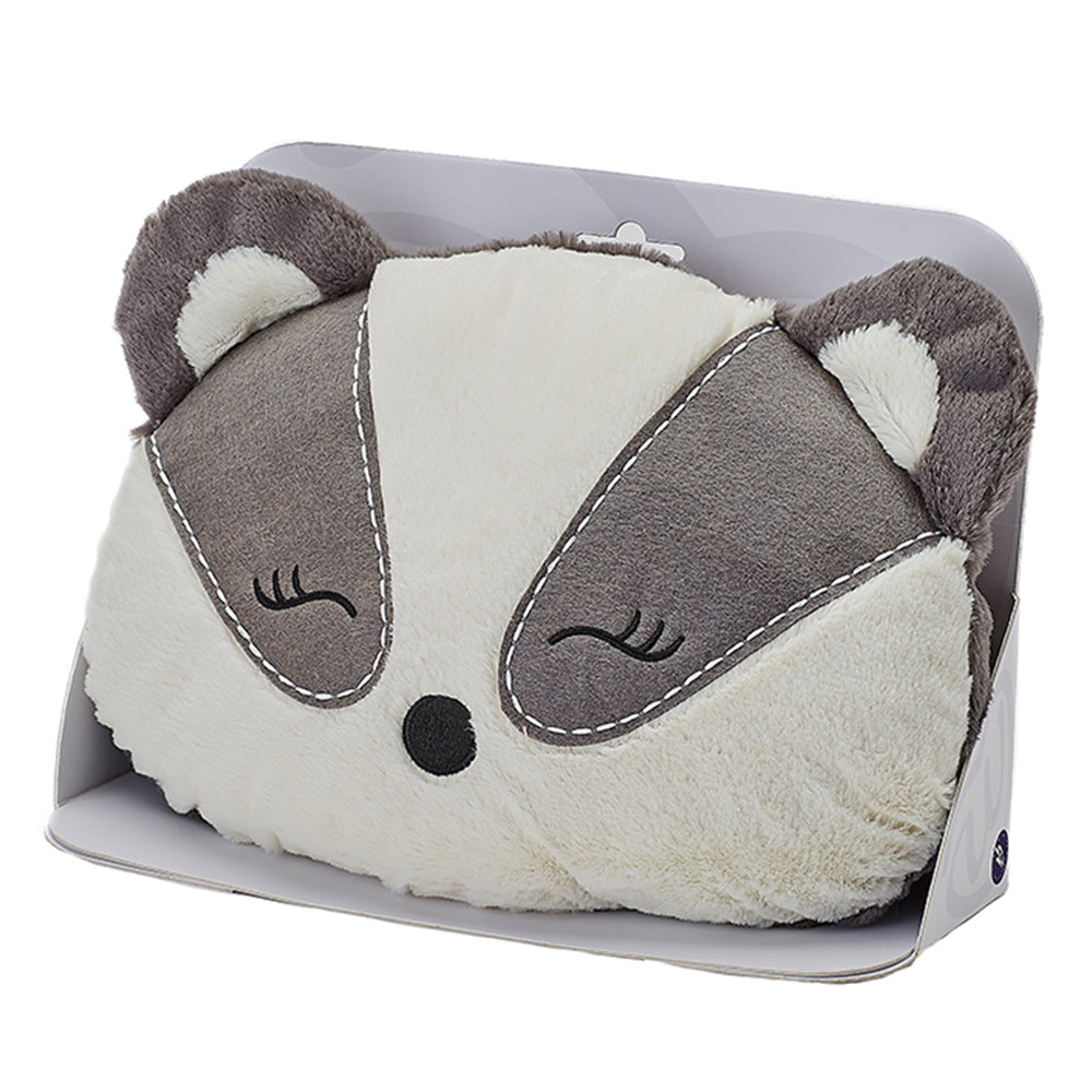 Warmies® Fully Microwaveable Badger Handwarmer, Relaxing Lavender Scented Heatable Soft Cuddly Badger