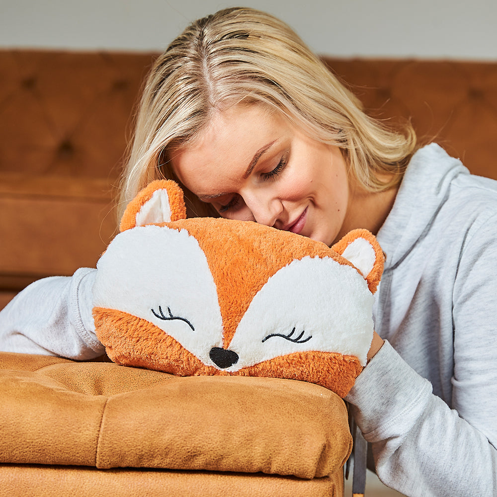 Warmies® Fully Microwaveable Fox Handwarmer, Relaxing Lavender Scented Heatable Soft Cuddly Fox