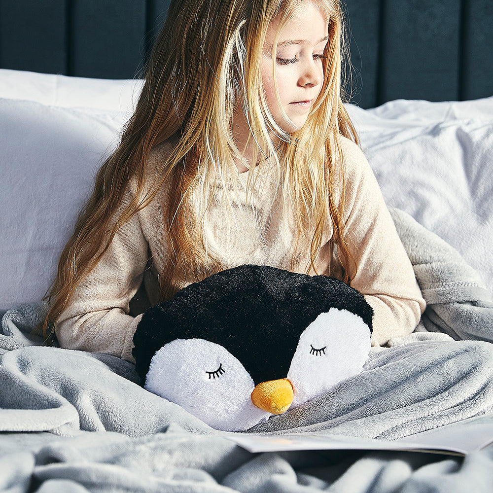 Warmies® Fully Microwaveable Penguin Handwarmer, Relaxing Lavender Scented Heatable Soft Cuddly Penguin