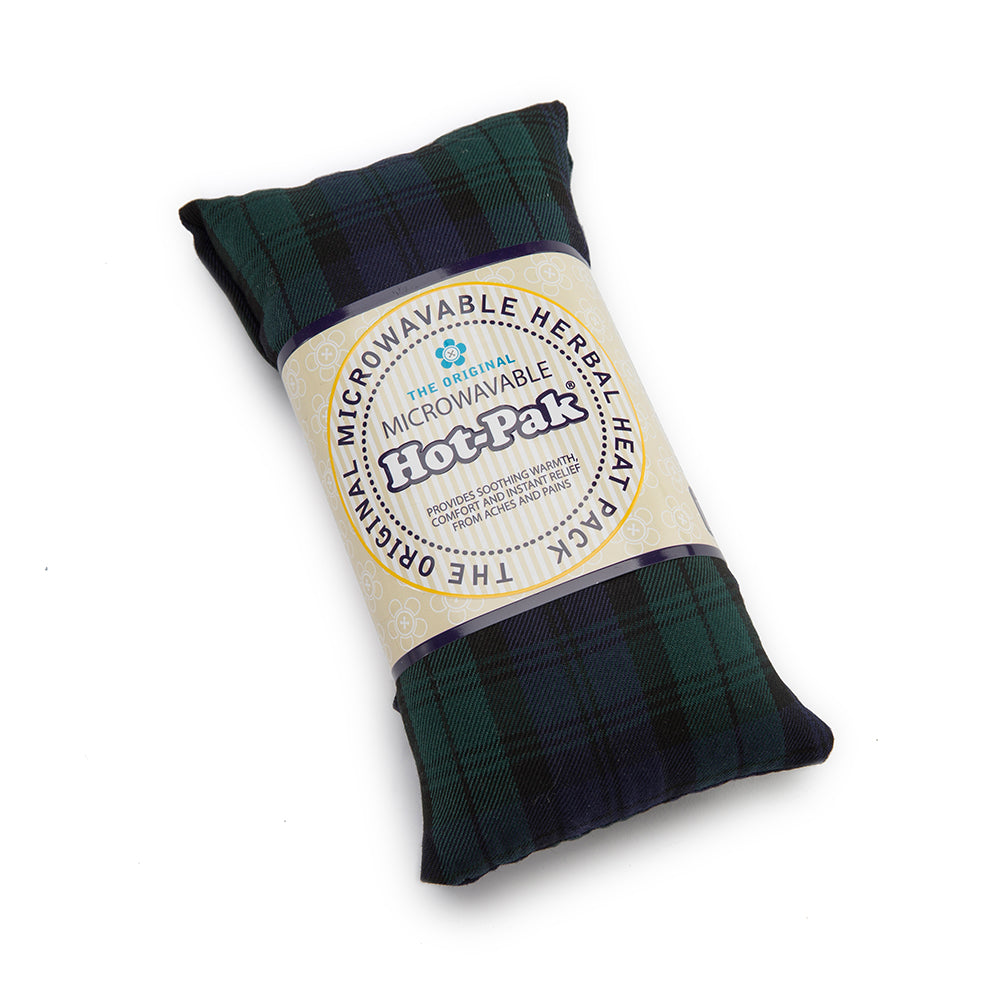 Warmies® Fully Microwaveable Hot-Pak® Tartan Blackwatch, Heatable Soft Neck Wrap With Relaxing Lavender Scent