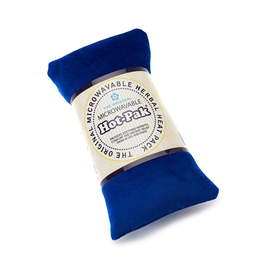 Warmies® Fully Microwaveable Hot-Pak® Velour Navy, Heatable Soft Neck Wrap With Relaxing Lavender Scent