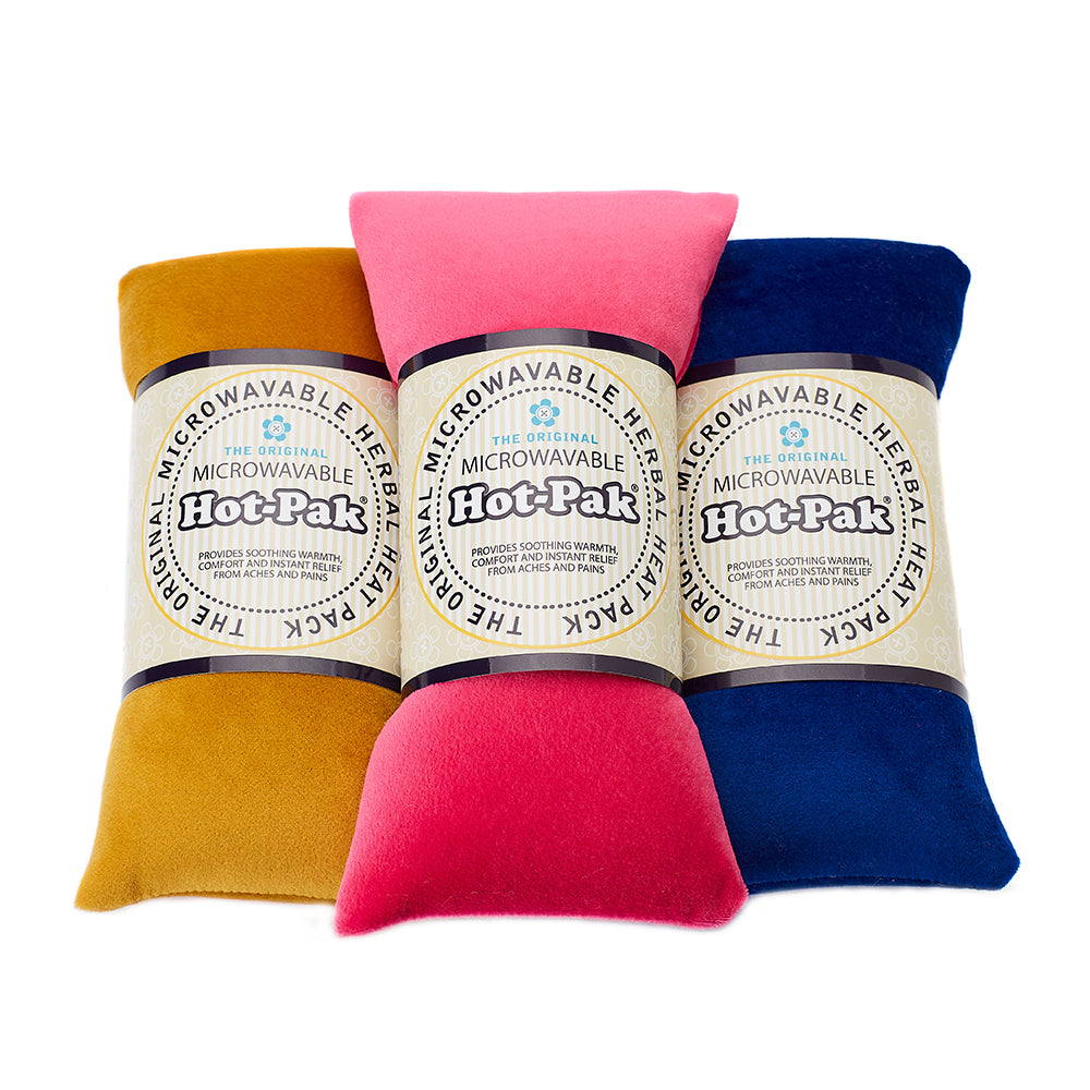 Warmies® Fully Microwaveable Hot-Pak® Velour Mustard, Heatable Soft Neck Wrap With Relaxing Lavender Scent