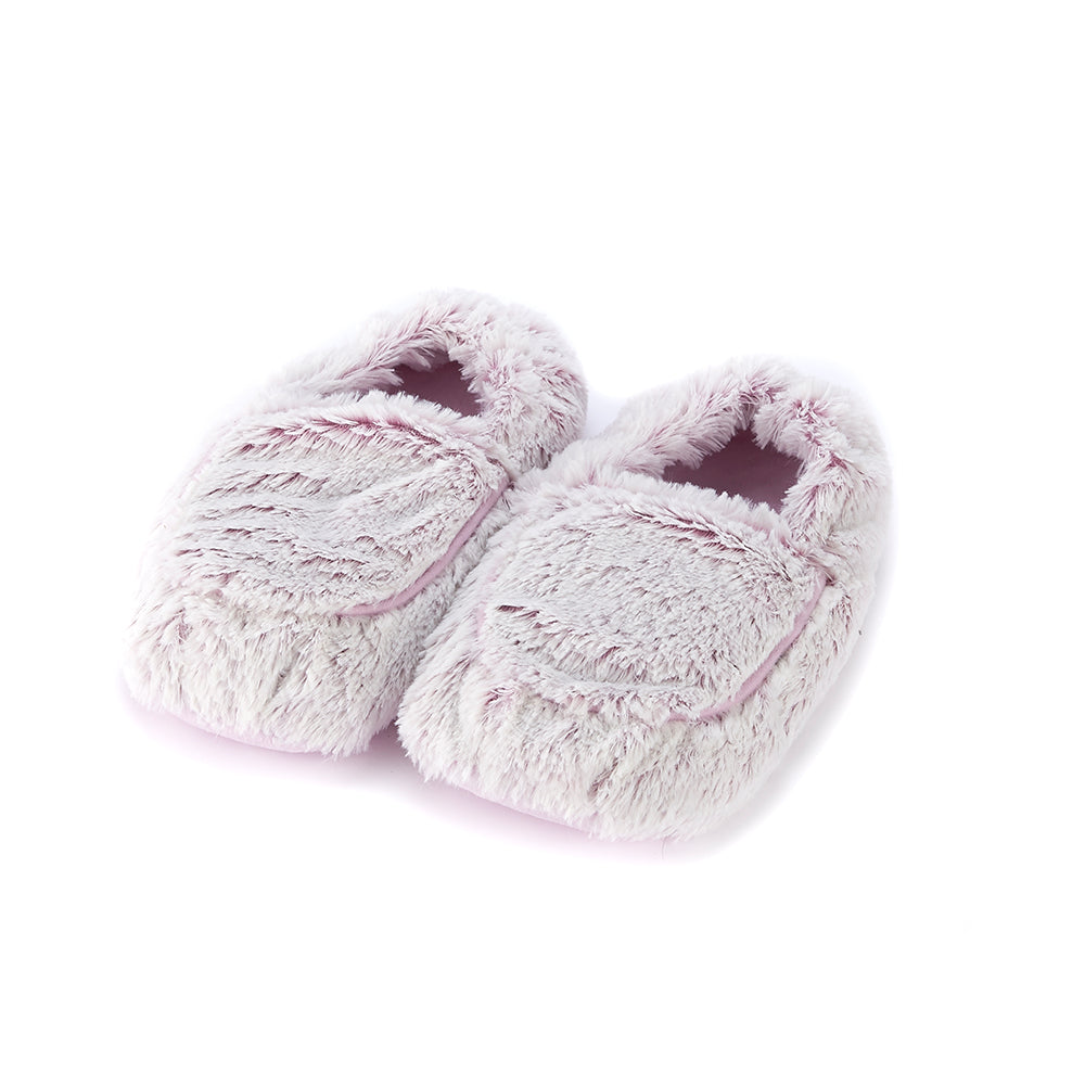 Warmies® Fully Microwaveable Plush Slippers Marshmallow Pink, Heatable Soft Cuddly Slippers With Relaxing Lavender Scent