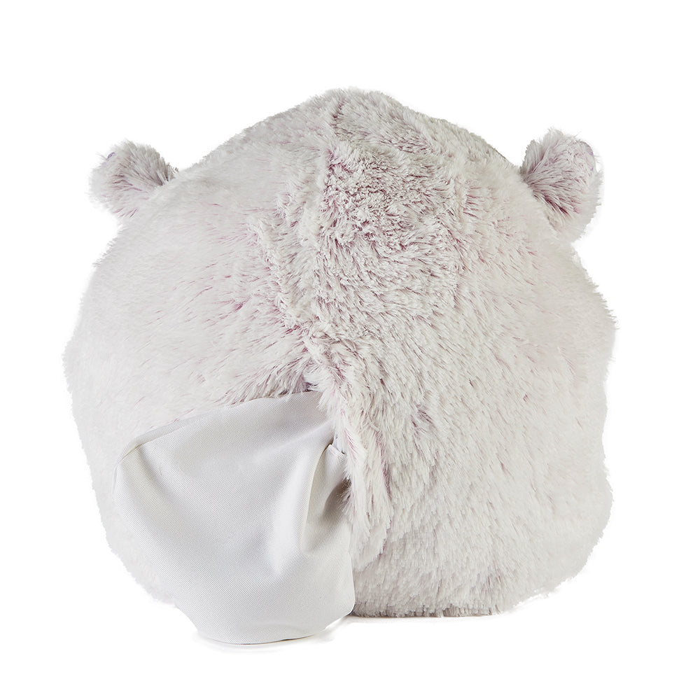 Warmies® Fully Microwaveable Supersized Marshmallow Pink Hamster Handwarmer with removable heat pack, Relaxing Lavender Scented Heatable Soft Cuddly Supersized Marshmallow Pink Hamster