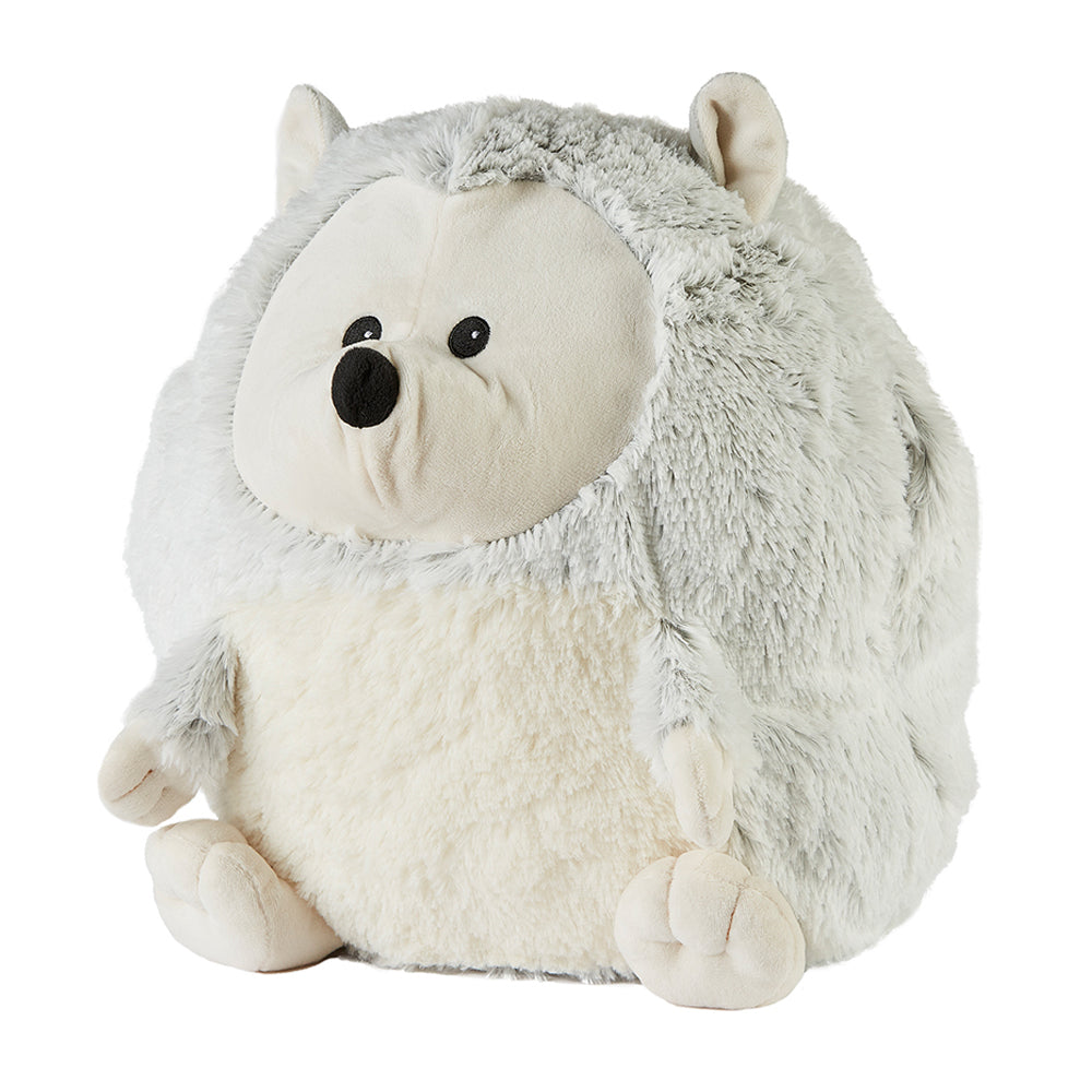 Warmies® Fully Microwaveable Supersized Marshmallow Hedgehog Handwarmer with removable heat pack, Relaxing Lavender Scented Heatable Soft Cuddly Supersized Marshmallow Hedgehog