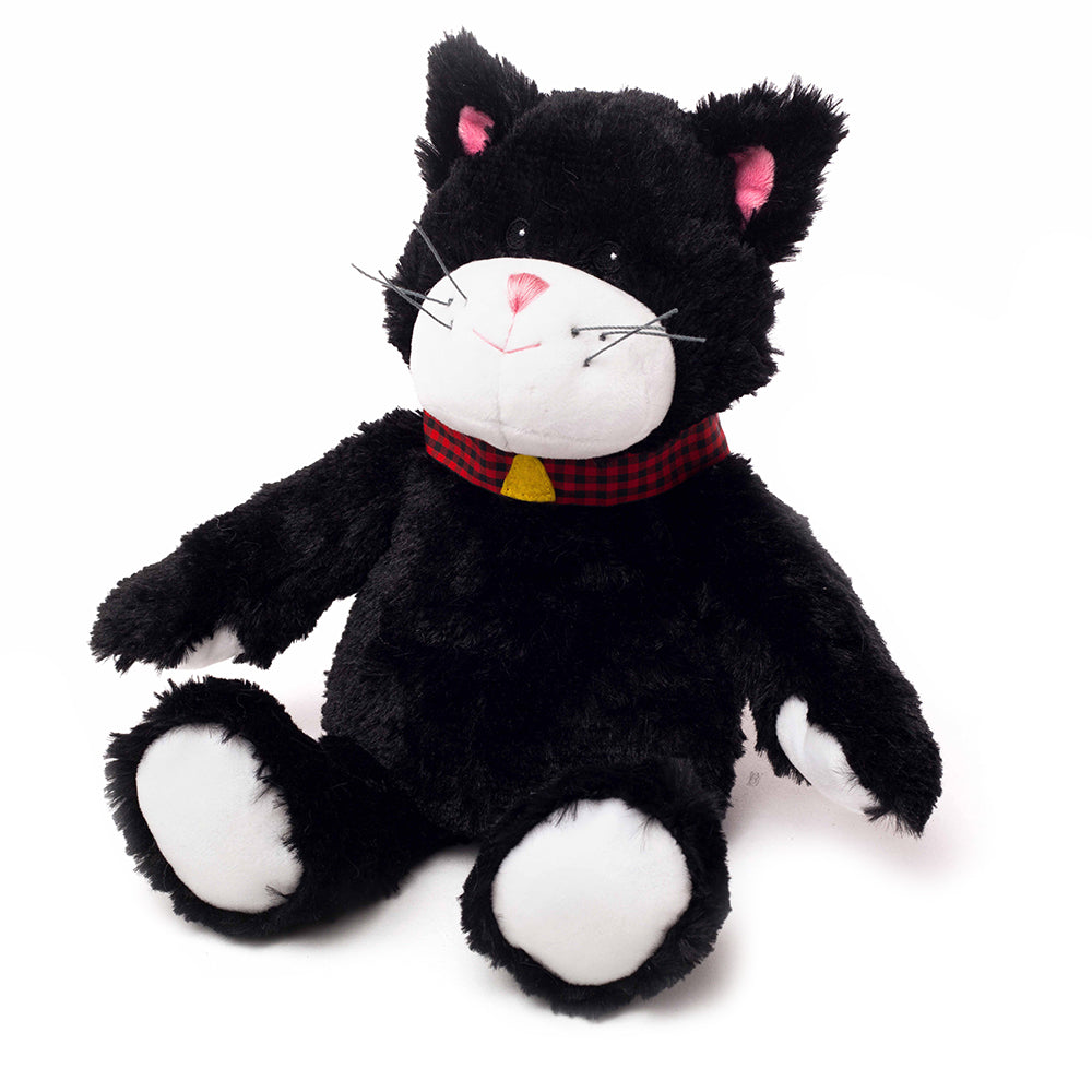Warmies® Fully Microwaveable Plush Toy Black Cat, Heatable Soft Cuddly Teddy With Relaxing Lavender Scent