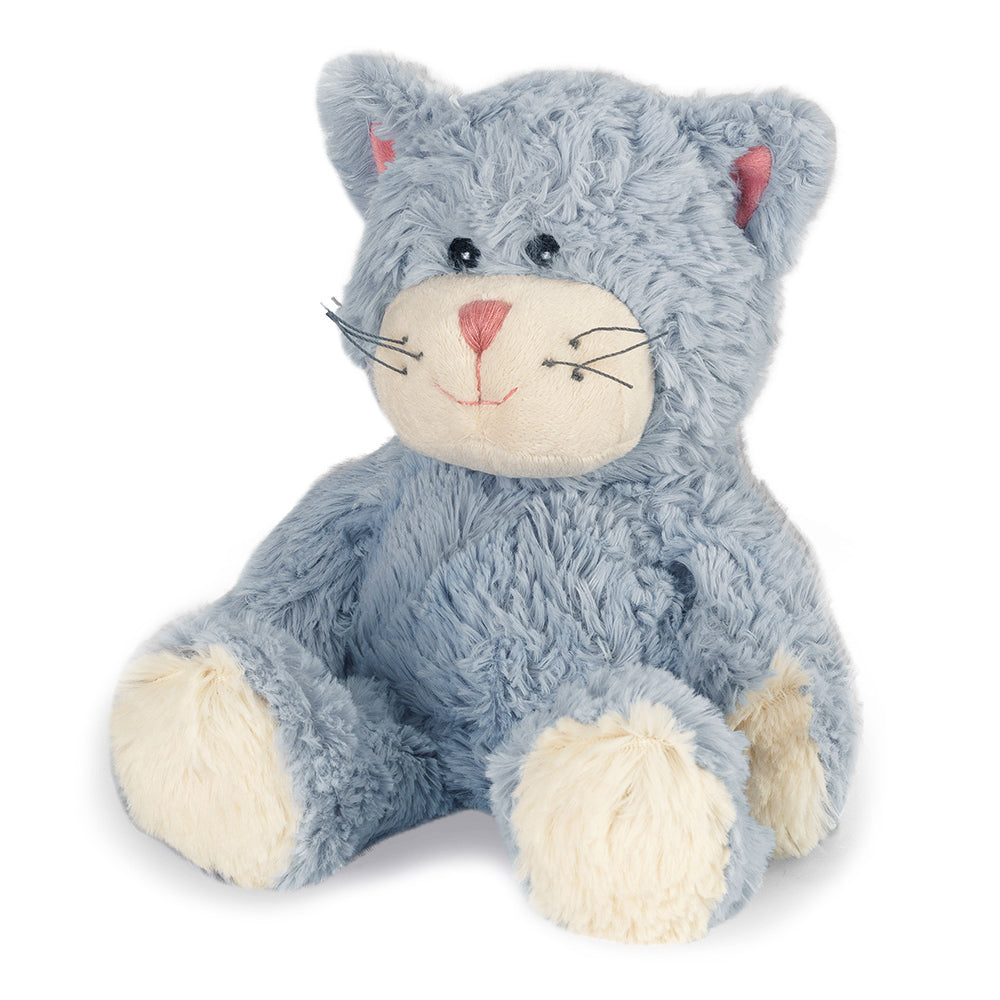Warmies® Fully Microwaveable Plush Toy Dusty Blue Cat, Heatable Soft Cuddly Teddy With Relaxing Lavender Scent