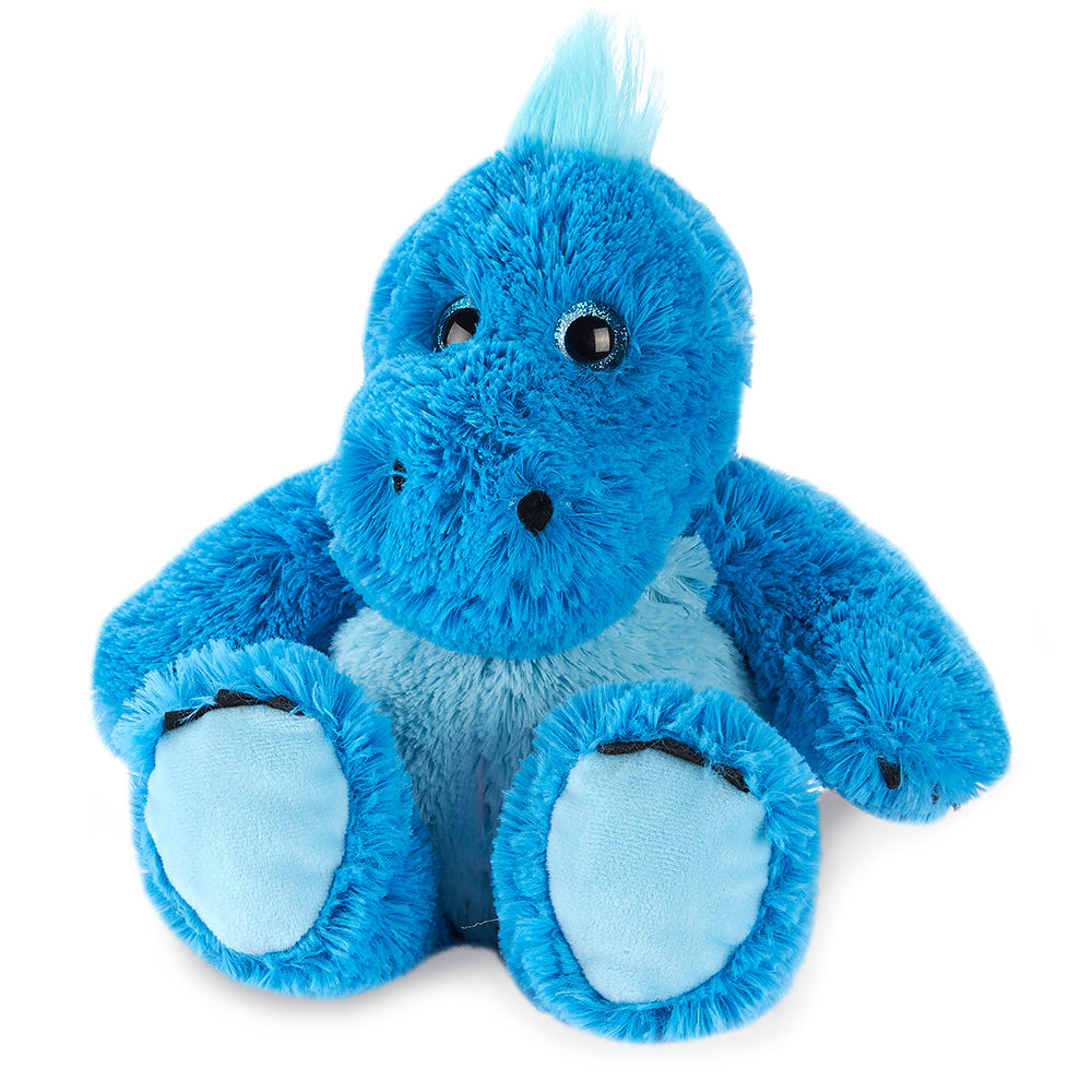Warmies® Fully Microwaveable Plush Toy Blue Dinosaur, Heatable Soft Cuddly Teddy With Relaxing Lavender Scent