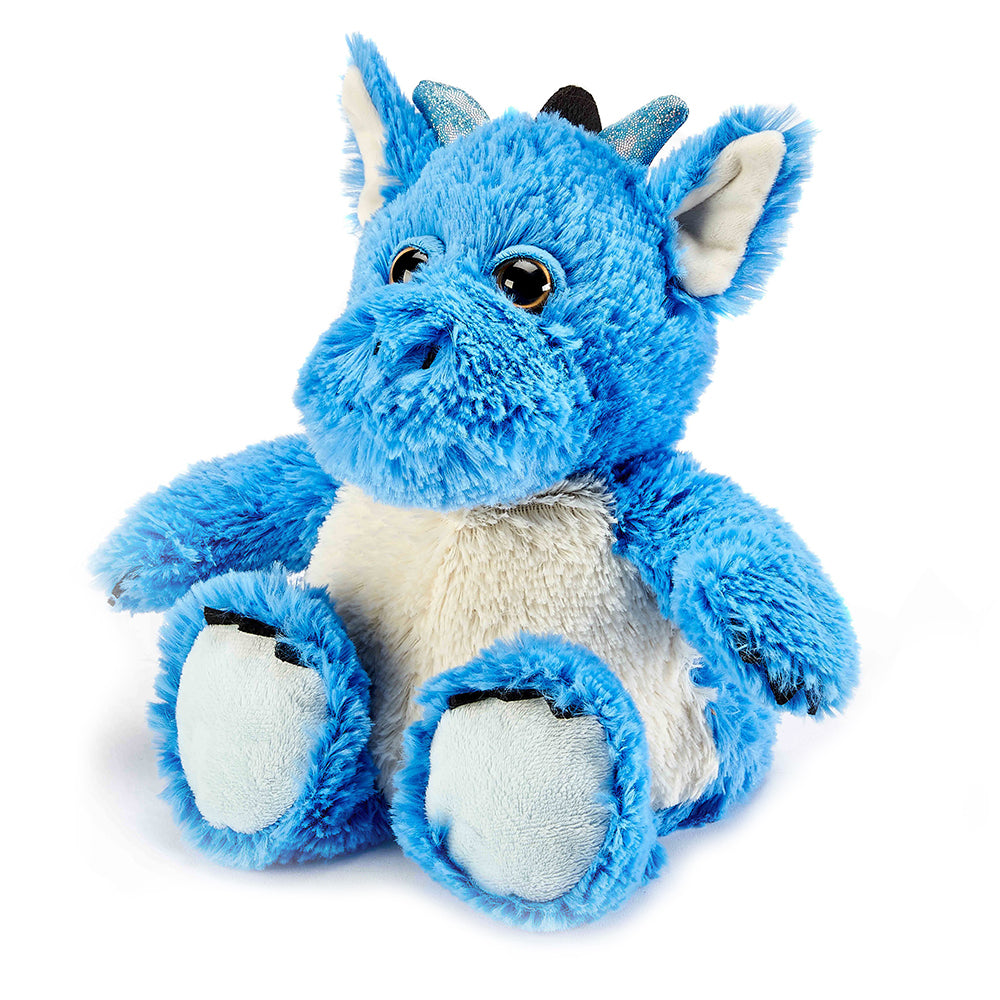 Warmies® Fully Microwaveable Plush Toy Blue Dragon, Heatable Soft Cuddly Teddy With Relaxing Lavender Scent