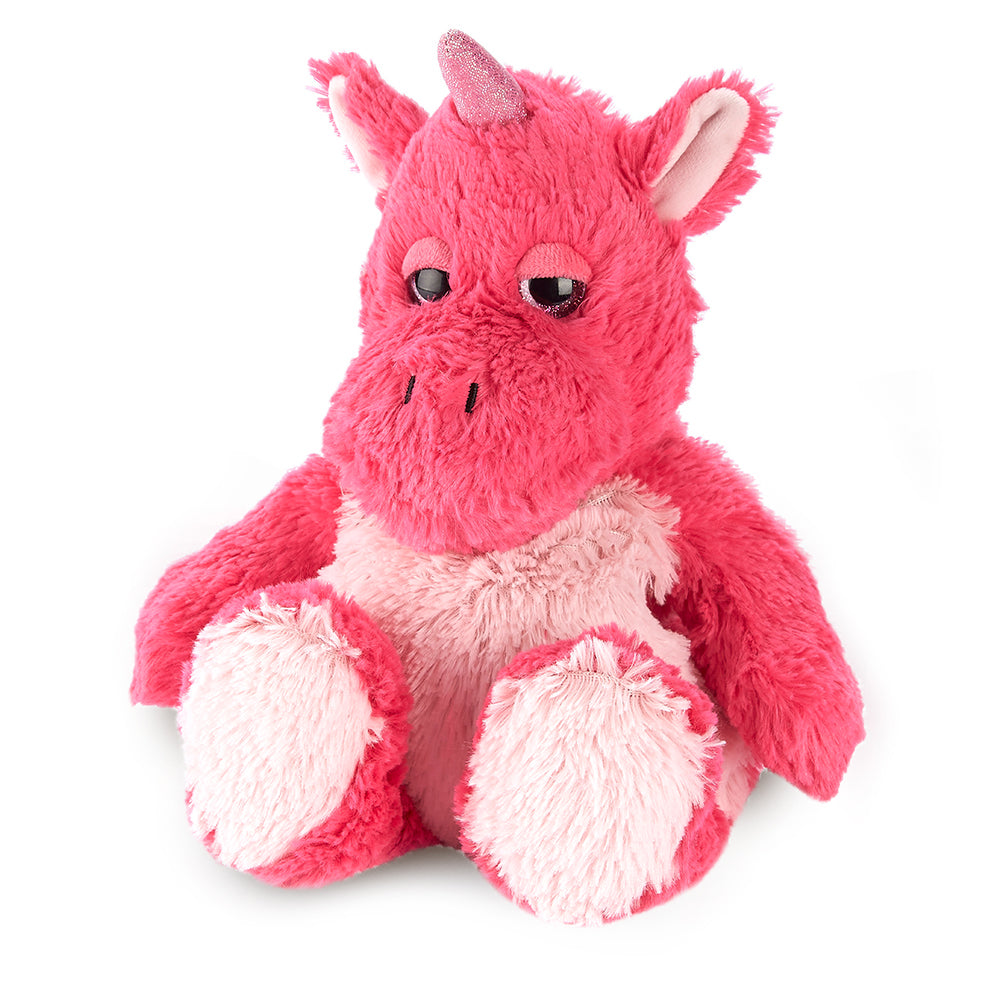 Warmies® Fully Microwaveable Plush Toy Bright Pink Unicorn, Heatable Soft Cuddly Teddy With Relaxing Lavender Scent