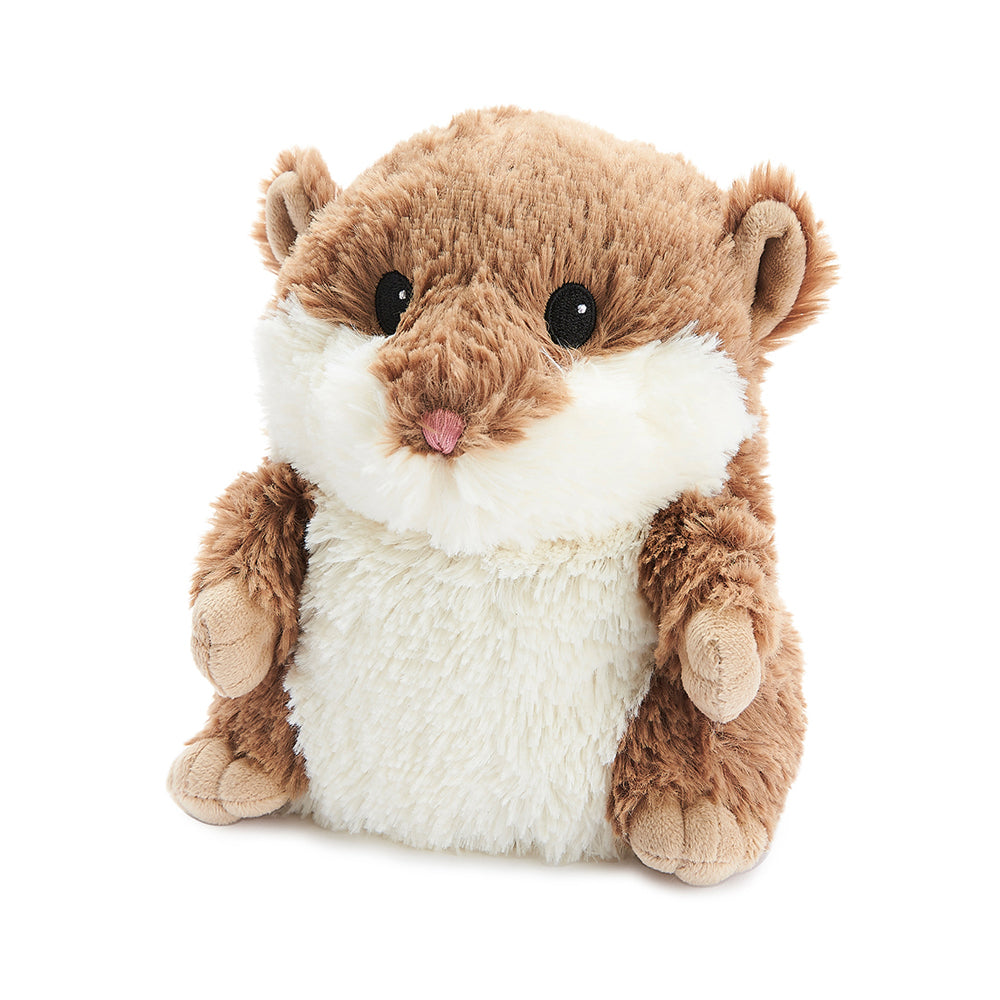 Warmies® Fully Microwaveable Plush Toy Brown Hamster, Heatable Soft Cuddly Teddy With Relaxing Lavender Scent