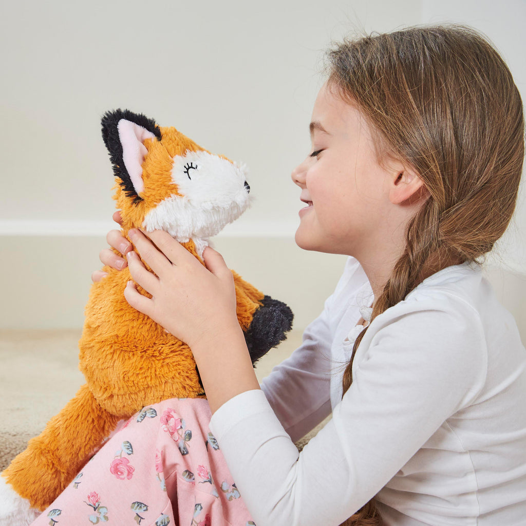 Warmies® Fully Microwaveable Plush Toy Fox, Heatable Soft Cuddly Teddy With Relaxing Lavender Scent