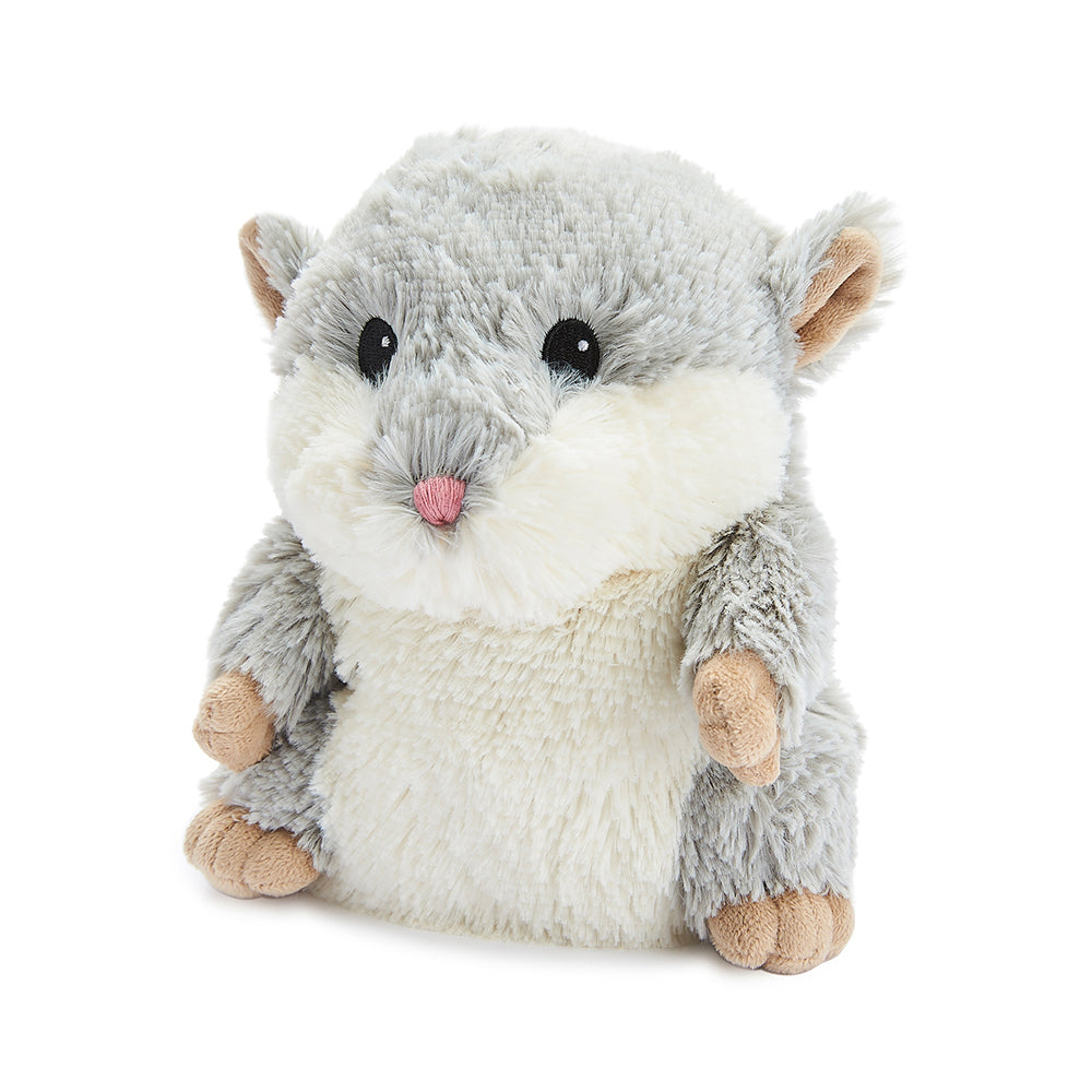 Warmies® Fully Microwaveable Plush Toy Grey Hamster, Heatable Soft Cuddly Teddy With Relaxing Lavender Scent