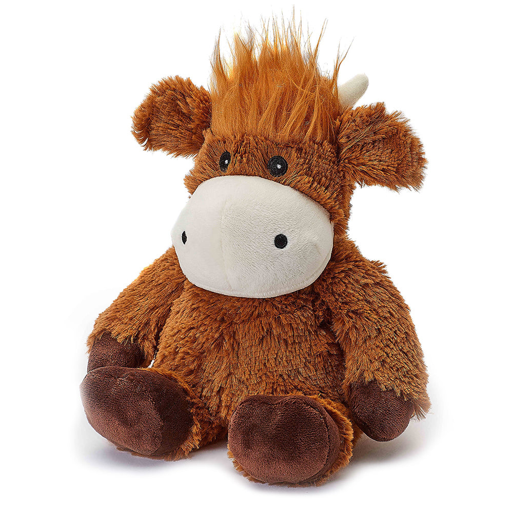 Warmies® Fully Microwaveable Plush Toy Highland Cow, Heatable Soft Cuddly Teddy With Relaxing Lavender Scent