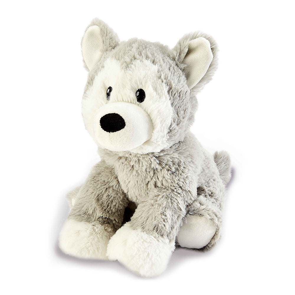 Warmies® Fully Microwaveable Plush Toy Husky, Heatable Soft Cuddly Teddy With Relaxing Lavender Scent