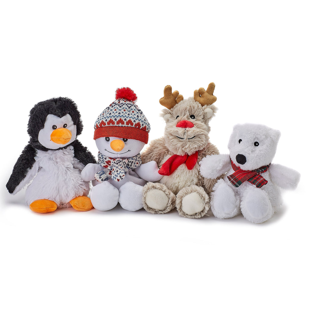 Warmies® Fully Microwaveable Junior Plush Toy Penguin, Heatable Soft Cuddly Teddy With Relaxing Lavender Scent
