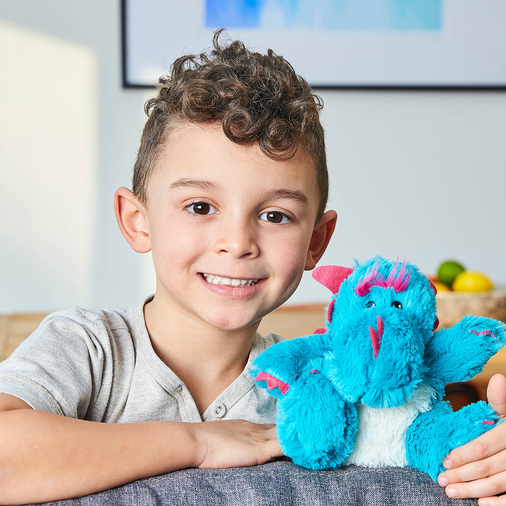 Warmies® Fully Microwaveable Junior Plush Toy Dragon, Heatable Soft Cuddly Teddy With Relaxing Lavender Scent