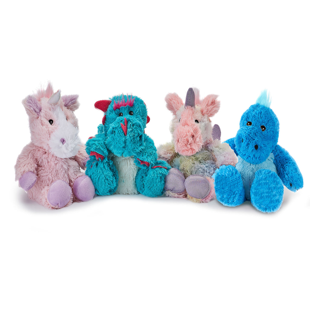 Warmies® Fully Microwaveable Junior Plush Toy Rainbow Unicorn, Heatable Soft Cuddly Teddy With Relaxing Lavender Scent