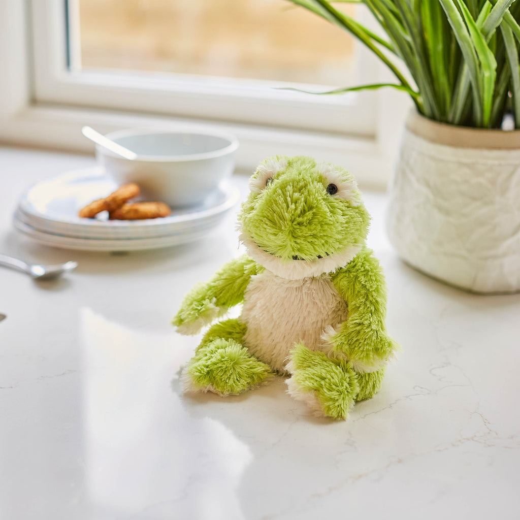 Warmies® Fully Microwaveable Junior Plush Toy Frog, Heatable Soft Cuddly Teddy With Relaxing Lavender Scent