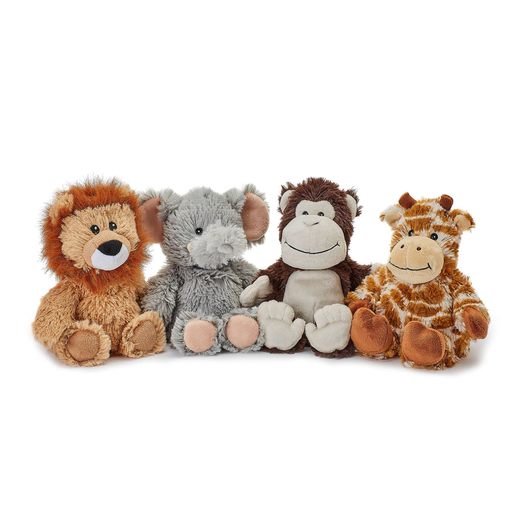 Warmies® Fully Microwaveable Junior Plush Toy Monkey, Heatable Soft Cuddly Teddy With Relaxing Lavender Scent