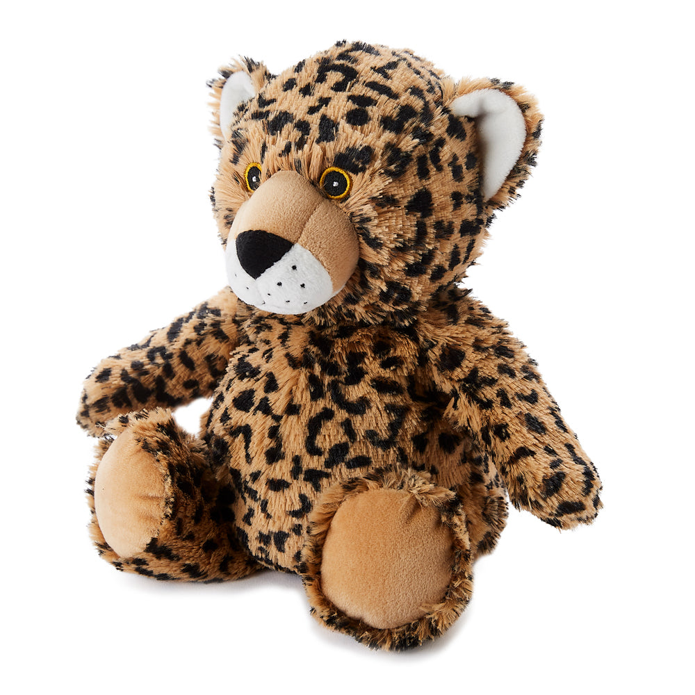 Warmies® Fully Microwaveable Plush Toy Leopard, Heatable Soft Cuddly Teddy With Relaxing Lavender Scent