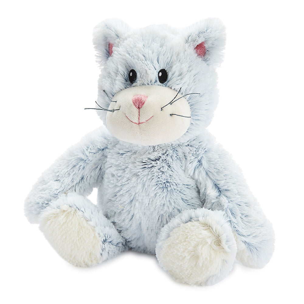 Warmies® Fully Microwaveable Plush Toy Marshmallow Cat, Heatable Soft Cuddly Teddy With Relaxing Lavender Scent