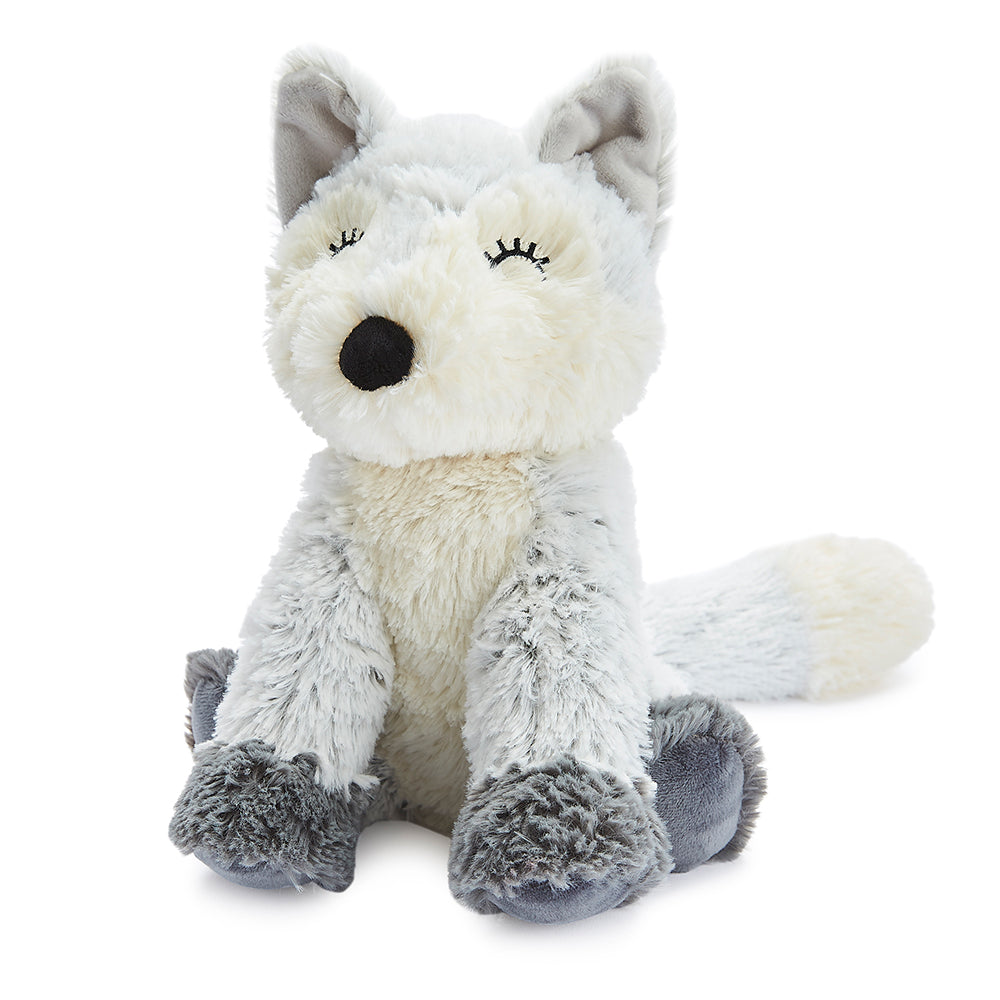 Warmies® Fully Microwaveable Plush Toy Marshmallow Fox, Heatable Soft Cuddly Teddy With Relaxing Lavender Scent
