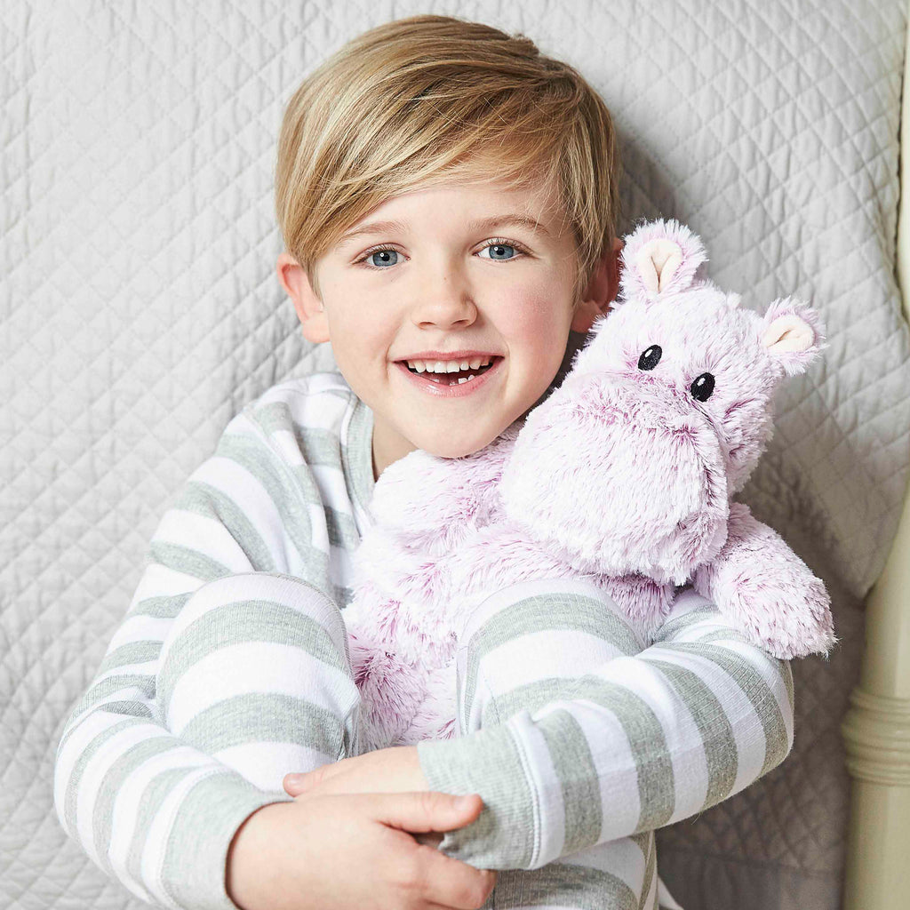 Warmies® Fully Microwaveable Plush Toy Marshmallow Hippo, Heatable Soft Cuddly Teddy With Relaxing Lavender Scent