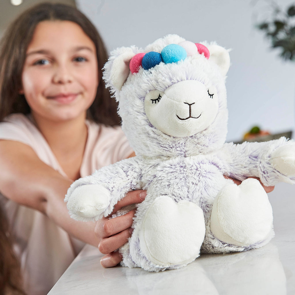 Warmies® Fully Microwaveable Plush Toy Marshmallow Llama, Heatable Soft Cuddly Teddy With Relaxing Lavender Scent