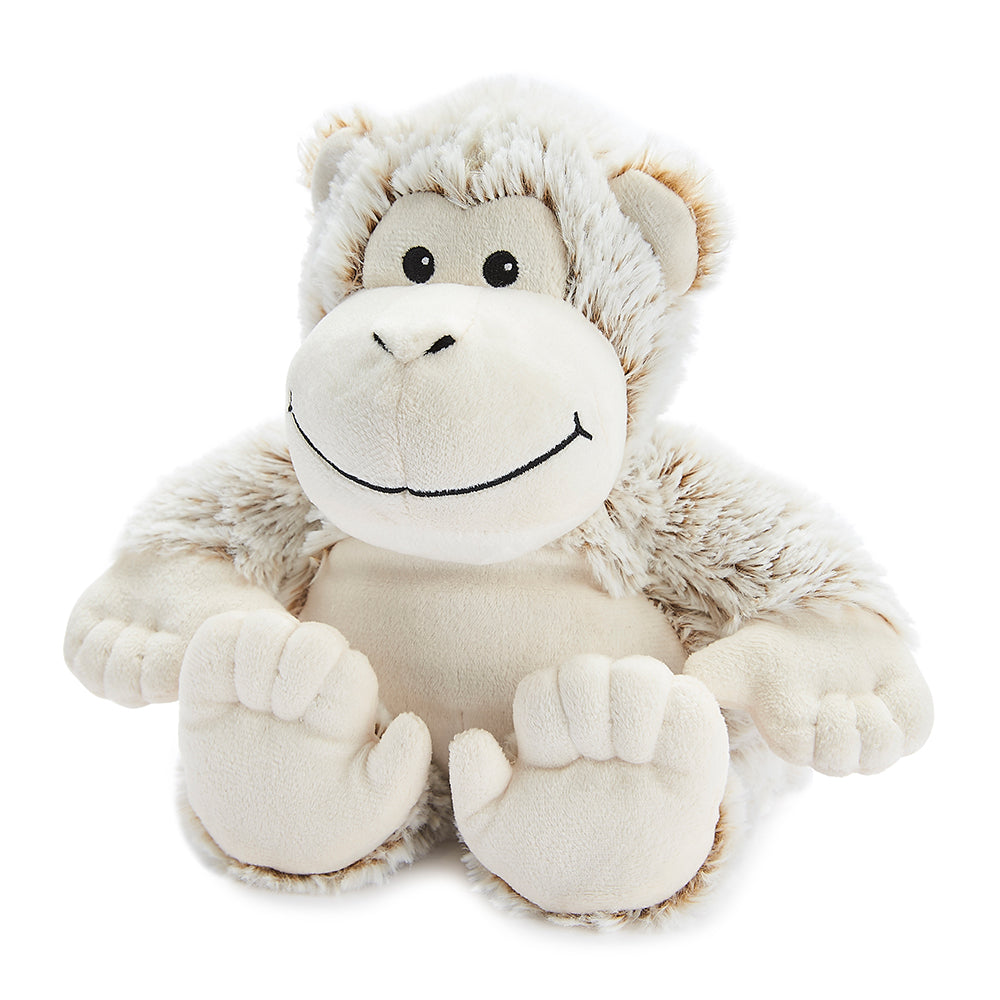 Warmies® Fully Microwaveable Plush Toy Marshmallow Monkey, Heatable Soft Cuddly Teddy With Relaxing Lavender Scent
