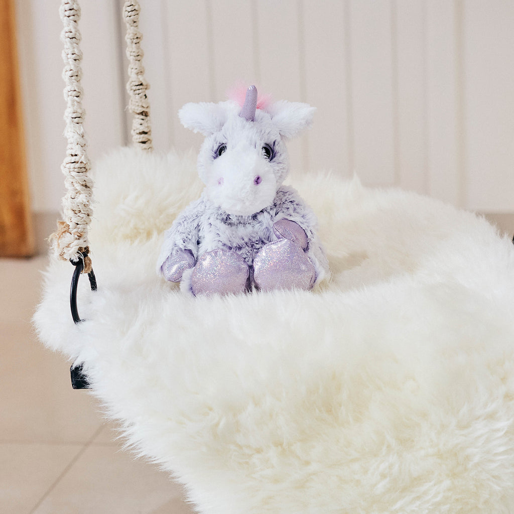 Warmies® Fully Microwaveable Plush Toy Marshmallow Unicorn, Heatable Soft Cuddly Teddy With Relaxing Lavender Scent
