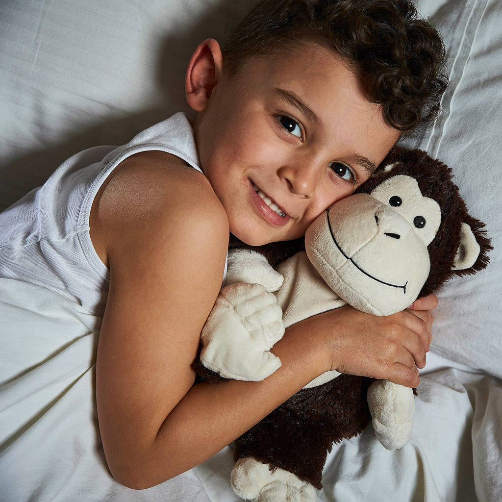 Warmies® Fully Microwaveable Plush Toy Monkey, Heatable Soft Cuddly Teddy With Relaxing Lavender Scent