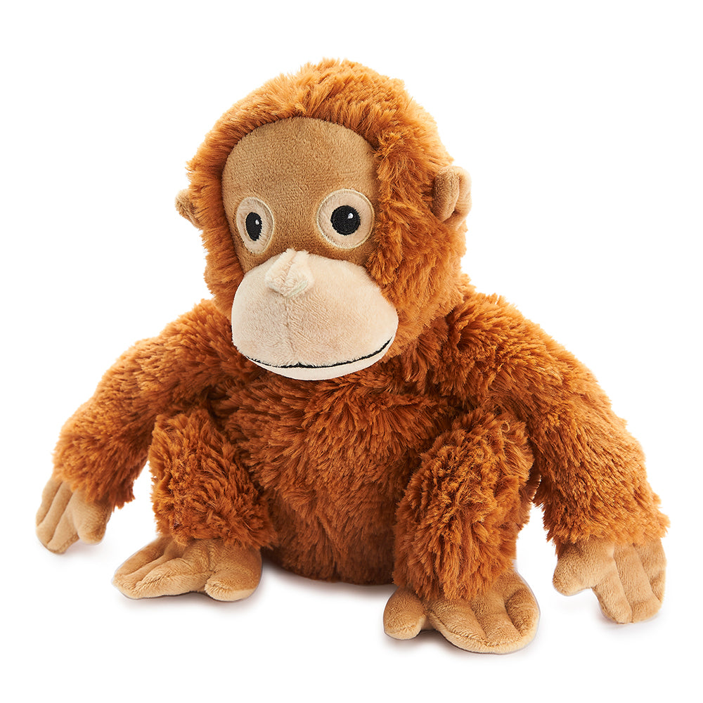 Warmies® Fully Microwaveable Plush Toy Orangutan, Heatable Soft Cuddly Teddy With Relaxing Lavender Scent