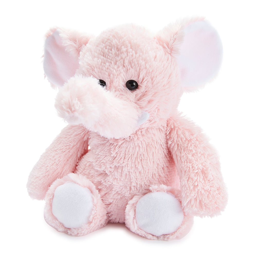 Warmies® Fully Microwaveable Plush Toy Pink Elephant, Heatable Soft Cuddly Teddy With Relaxing Lavender Scent