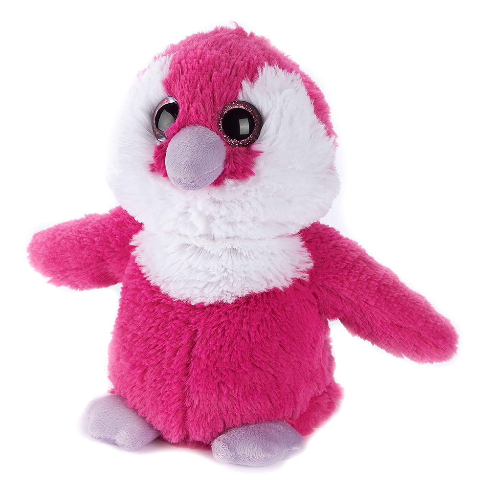 Warmies® Fully Microwaveable Plush Toy Pink Penguin, Heatable Soft Cuddly Teddy With Relaxing Lavender Scent