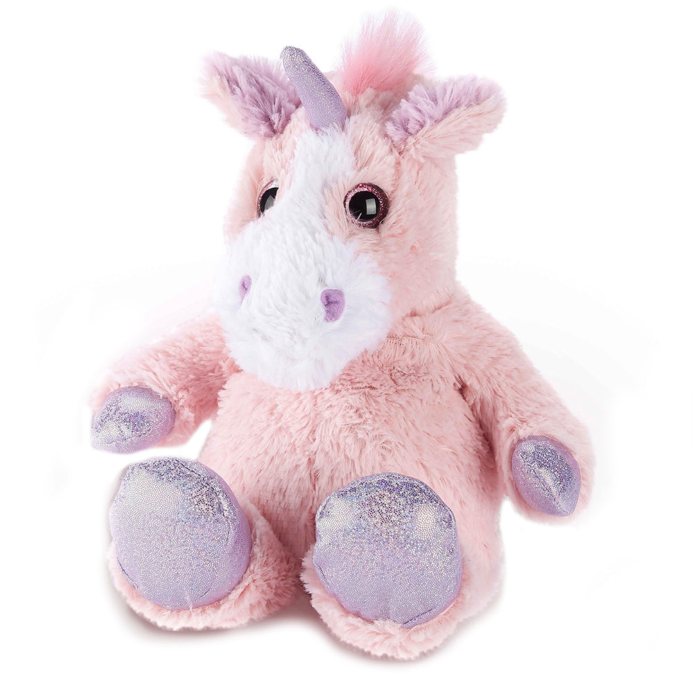 Warmies® Fully Microwaveable Plush Toy Sparkly Pink Unicorn, Heatable Soft Cuddly Teddy With Relaxing Lavender Scent