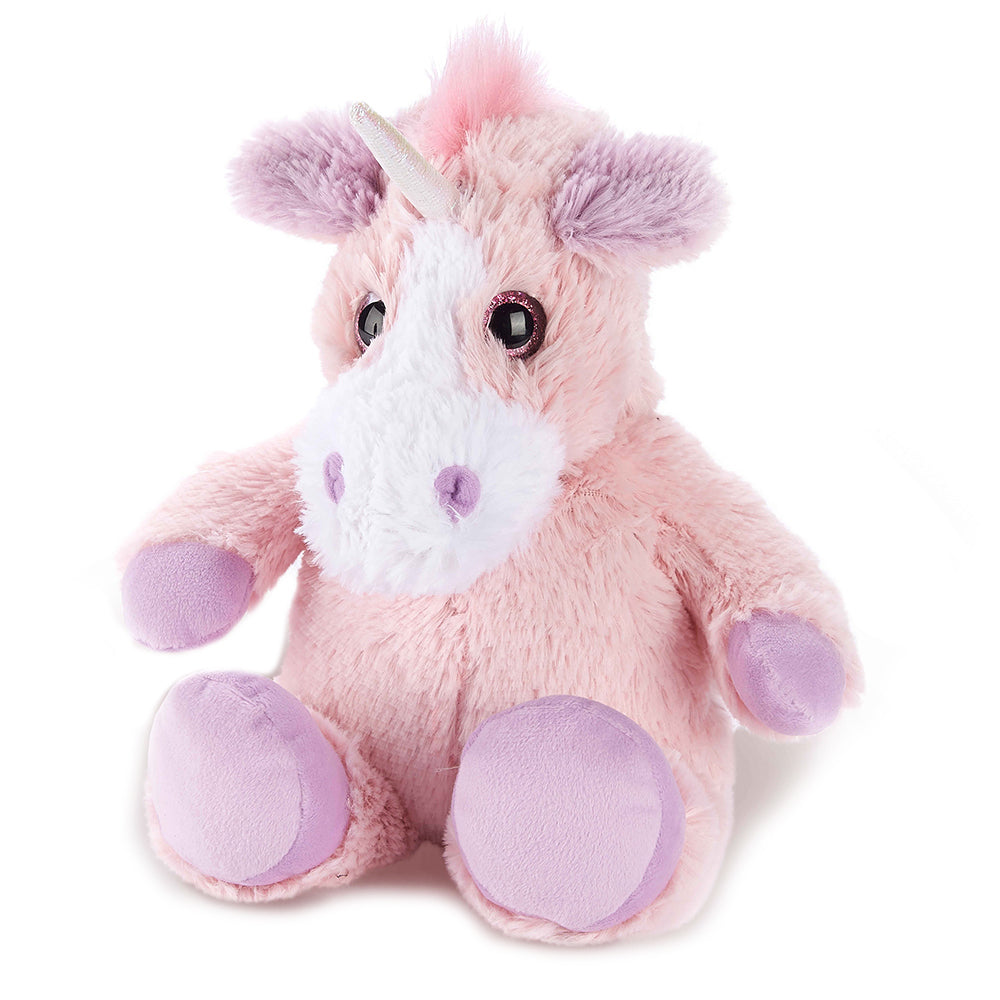 Warmies® Fully Microwaveable Plush Toy Pink Unicorn, Heatable Soft Cuddly Teddy With Relaxing Lavender Scent
