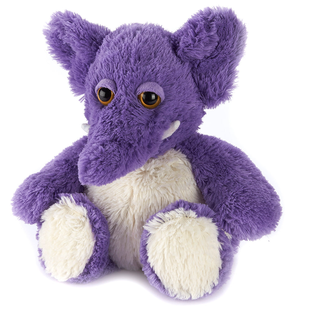 Warmies® Fully Microwaveable Plush Toy Purple Elephant, Heatable Soft Cuddly Teddy With Relaxing Lavender Scent
