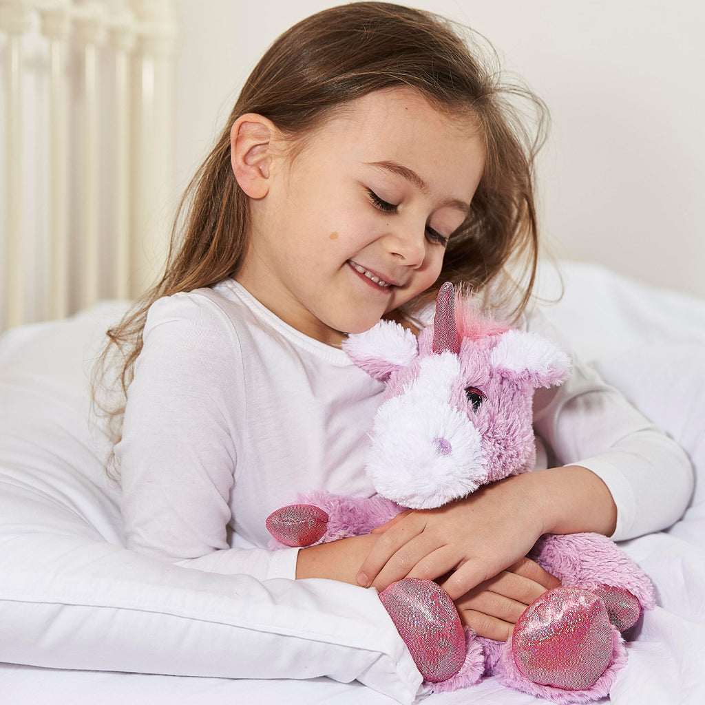 Warmies® Fully Microwaveable Plush Toy Sparkly Purple Unicorn, Heatable Soft Cuddly Teddy With Relaxing Lavender Scent